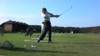 Golf Hitting 5 Iron out off sight