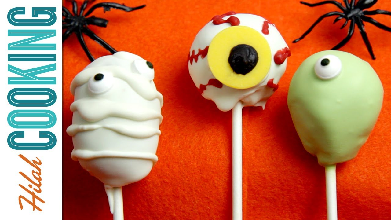 how to make halloween cake pops | hilah cooking - youtube