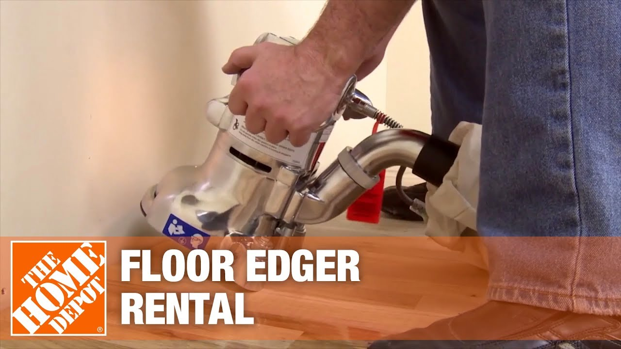 Edging Floors With A Floor Edger Rental The Home Depot Rental Youtube