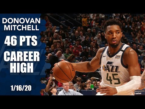 Donovan Mitchell matches career-high 46 in Jazz vs. Pelicans | 2019-20 NBA Highlights