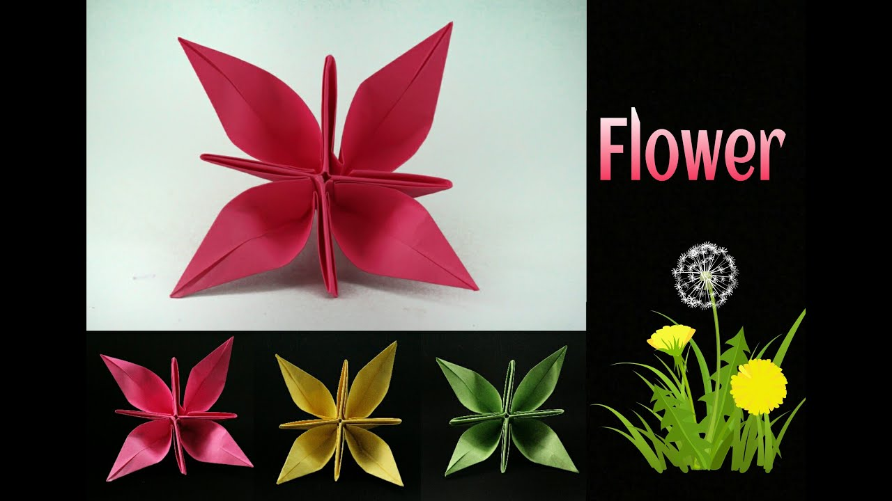 Beautiful flower diy origami tutorial by paper folds youtube beautiful flower diy origami tutorial by paper folds mightylinksfo