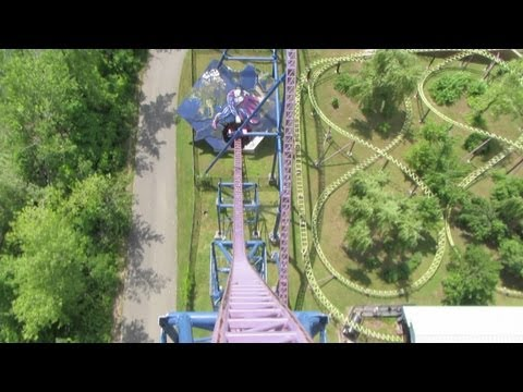 Bizarro (with new on-board audio) Front Seat on-ride HD POV Six Flags New England