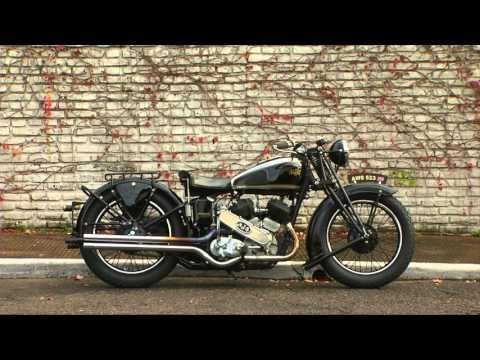 Impecable AJS 1000 inglesa de 1938