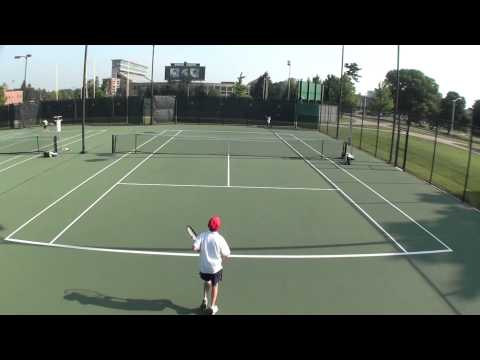 Andrei, 12 years old, playing outstanding tennis at U12 L1 Midwest Closed - Jun 2013