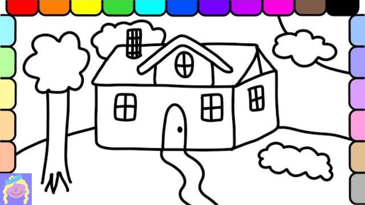 learn how to draw and color a house  this fun coloring