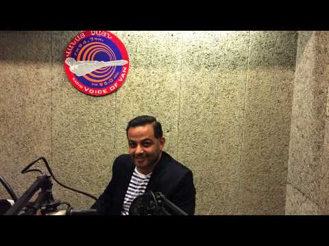 Anthony Jalbout  interview with Hala Hadad  at Voice of Van, Beirut, Lebanon June 23, 2015