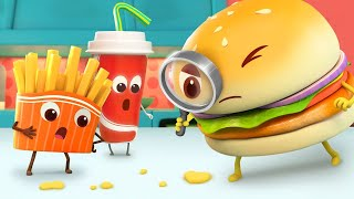 Burger Looks for Its Cheese | Learn Colors, Shapes for Kids | Nursery Rhymes | Kids Songs | BabyBus