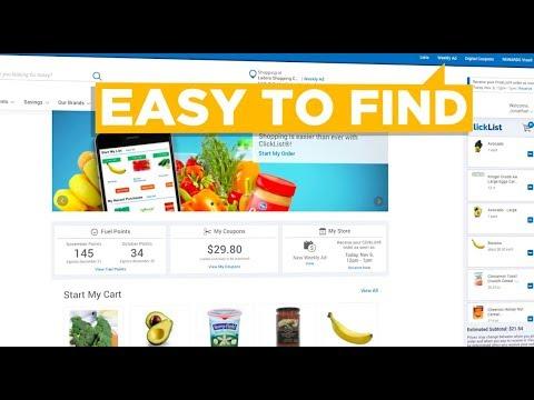 Grocery Shopping On Kroger.com Made Easier! | Message From Kroger | Kroger
