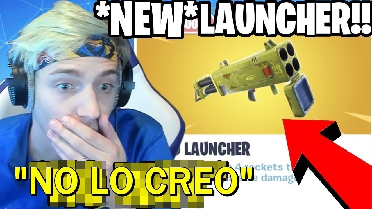 NINJA & STREAMERS REACT TO *NEW* QUAD LAUNCHER!😱