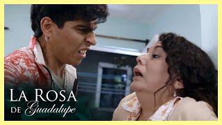La Rosa de Guadalupe: Ernesto agrede a la mamá de Cynthia   Barata de amor