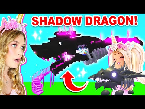 The BIGGEST Shadow Dragon Build EVER In Adopt Me! (Roblox)