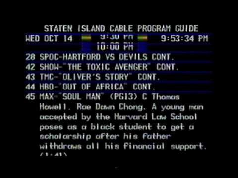 Cable TV Program Guide October 14, 1987