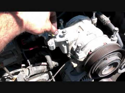 Air Condition Compressor removal Jeep Grand Cherokee - YouTube on
