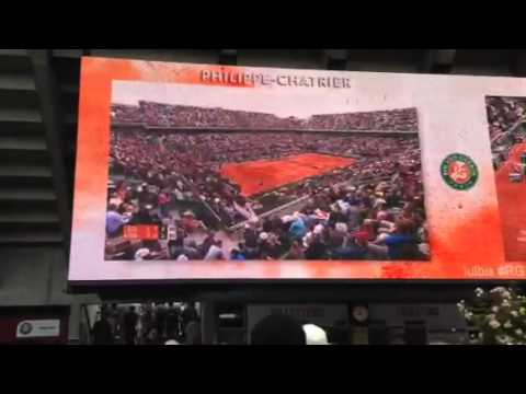 French Open 2014: Public Viewing bei Roger Federer gegen Ernests Gulbis