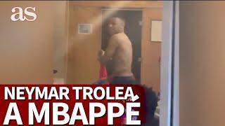 PSG | La broma de NEYMAR a MBAPPÉ mientras se daba un baño helado | Diario AS