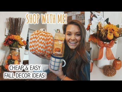 SHOP WITH ME FOR FALL HOME DECOR & MORE | TARGET & MARSHALLS