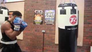 ANTHONY JOSHUA MBE EXPLOSIVE HEAVYBAG SESSION @ MATCHROOM ELITE BOXING GYM (FOOTAGE)