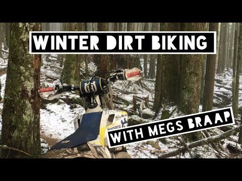 Winter dirt biking in beautiful BC - New Years Day