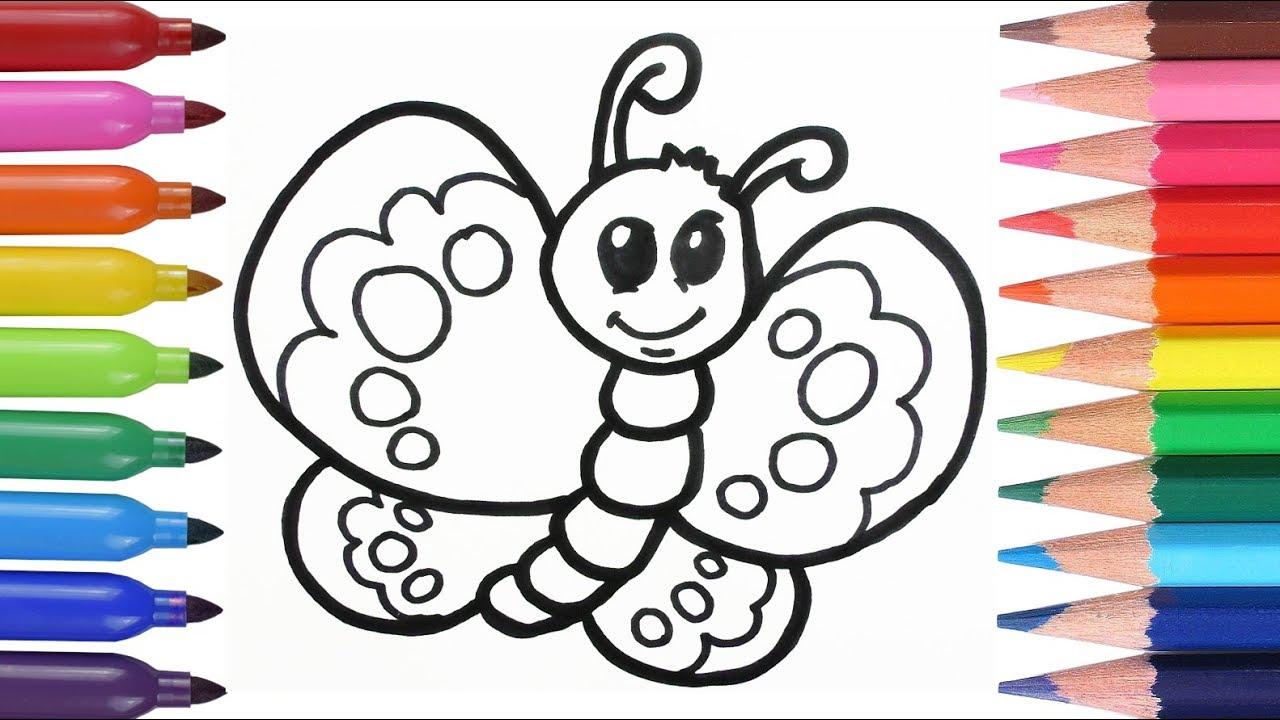 Cómo Dibujar y Colorear Una Mariposa de Arco Iris - How to Draw ...
