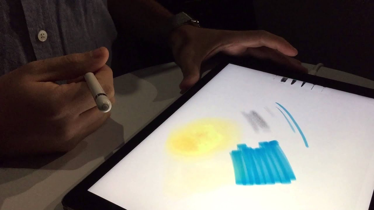 Hands on ipad pro and apple pencil with adobe sketch ios 9 markup