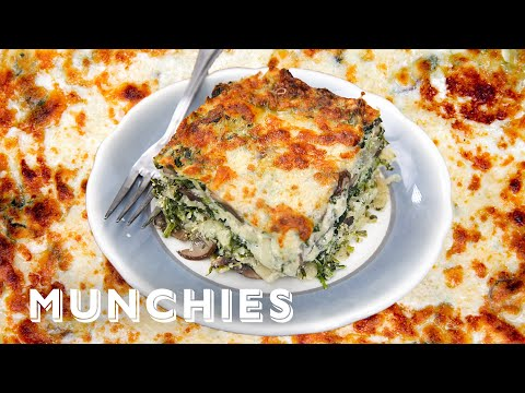 How To Make Spinach and Mushroom Lasagna