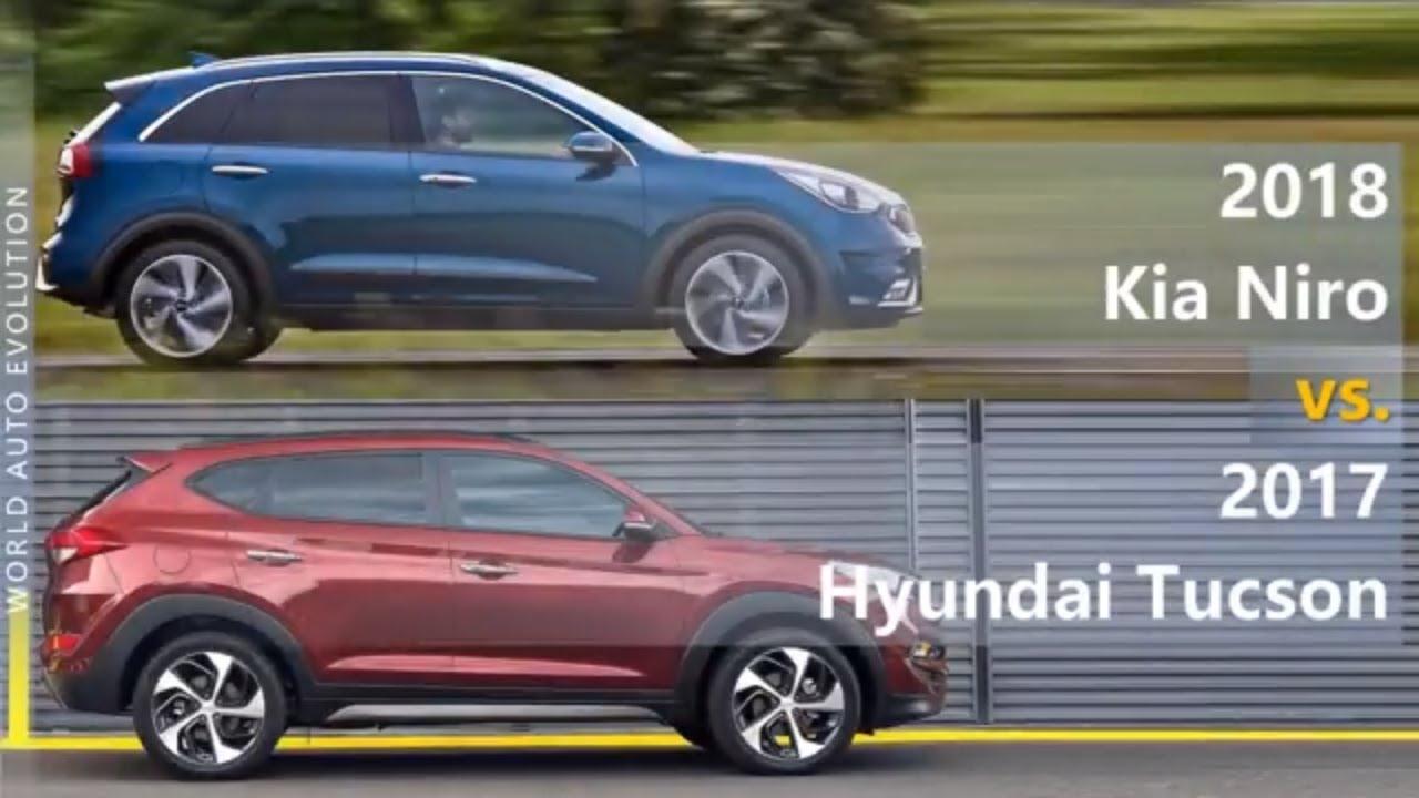 2018 Kia Niro Vs 2017 Hyundai Tucson Technical Comparison