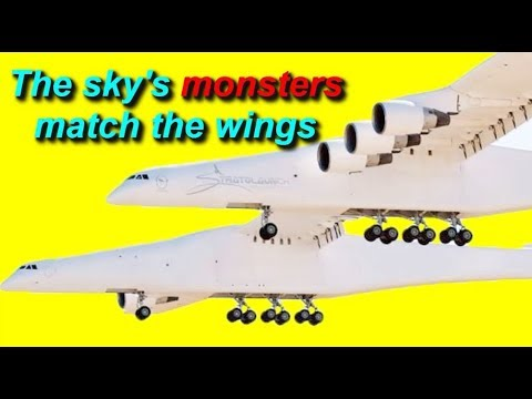 The world's largest plane on the first flight