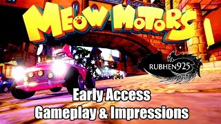 Meow Motors (PC) Early Access - Gameplay & Impressions | Mario Kart with Crazy Cats!