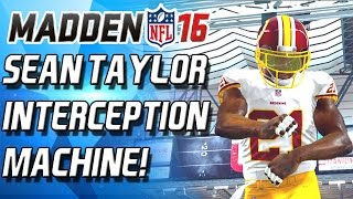 SEAN TAYLOR! ZOMG! INTECEPTION MACHINE! - Madden 16 Draft Champions