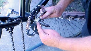 How To Build 4 Stroke Motorized Bicycle Part 2 - Install 3 Piece Crank & Motor Mount