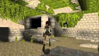 Tomb Raider (1996) Gameplay - Caves (first level)