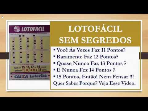o verdadeiro segredo da lotofacil