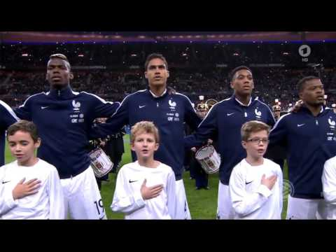 National Anthem France vs Germany 2-0 13th November 2015 Stade de France (Pray for Paris)