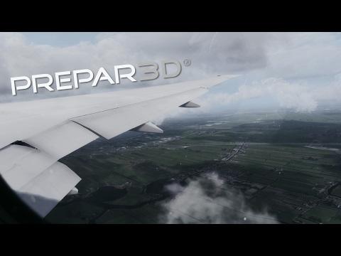 [Prepar3D] EXTREME GRAPHICS i7-7700k landing Amsterdam !! PMDG 777