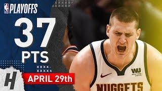 Nikola Jokic Full Game 1 Highlights Nuggets vs Blazers 2019 NBA Playoffs - 37 Pts, 6 Ast, 9 Reb!