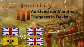 Age of Empires III - Aufstand der Marathen-Thuggees in Dekkan 2vs2 [Deutsch/HD/Gameplay]