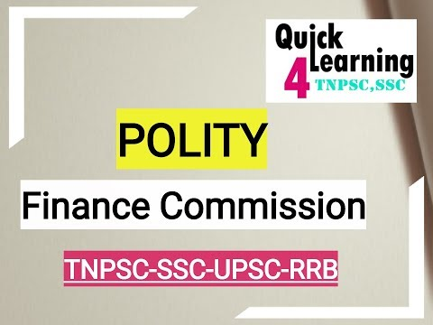 Finance Commission - Polity (Tamil/English)