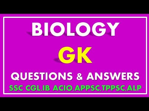 Biology GK Questions And Answers For SSC AND IB ACIO | General Knowledge 2020-21