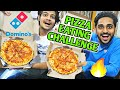 2 X DOMINO'S Pizza Eating Challenge *GONE WRONG* | Domino's Medium Pizza Food Competition | Neon Man