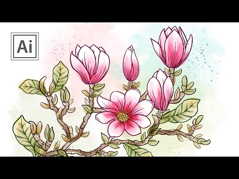 How To Doodle A Magnolia Branch With Brushes In Adobe Illustrator