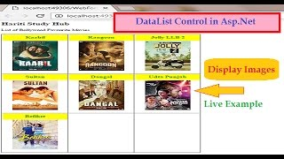 Display Images in DataList Control from Database in Asp.net C# | Hindi