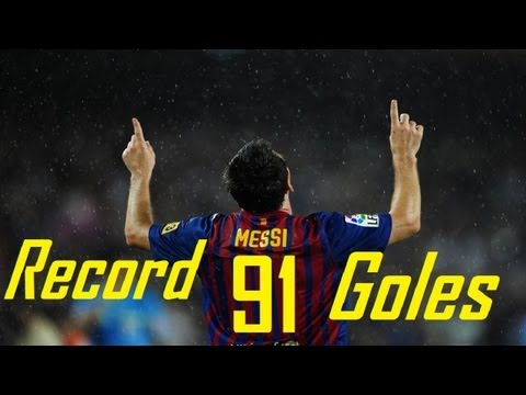Record Messi | 91 goals in 2012 | FC Barcelona