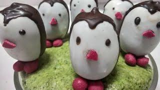 Cake Penguins!! Penguin Cake Pops || Cute Animated Cake Pops || घर पर आसानी से बनाएँ पेंगविन केक पोप