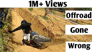R15 v3 Can't Survive | Accident Offroad Bullet | Deadly Track| Royal Enfield Trials | Explore n More
