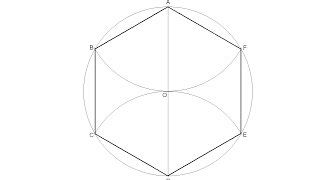 How to draw a regขlar hexagon inscribed in a circle