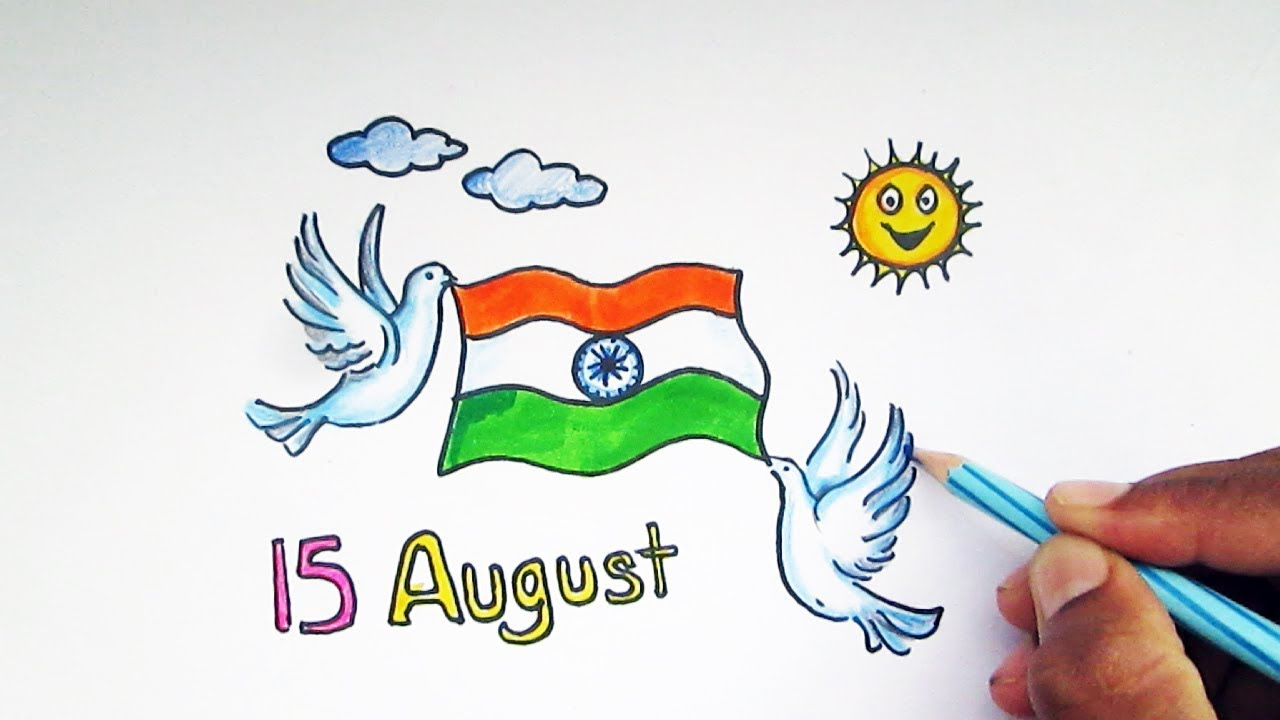Independence day drawing ideas for kids also youtube rh
