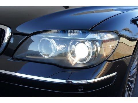 BMW E65 E66 Left Parking Lamp Malfunction - YouTube