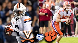 Virginia vs. Clemson: 2019 ACC Championship Game Preview