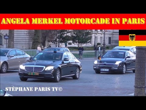 German Chancellor Merkel's Motorcade In Paris