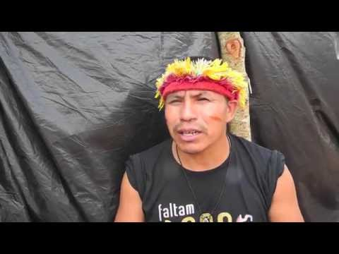 """""""As the world cheers for the Olympics, we Guarani are being killed!"""""""
